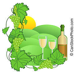 Vineyard - Clip-art of wine and vineyard