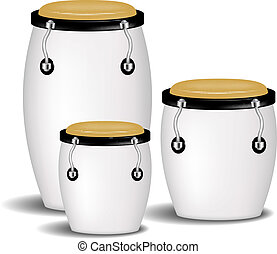 Congas band in white design with shadow on white background
