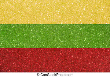ensign lithuania - the ensign of lithuania made of twinkling...