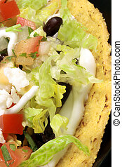 mexican tacos - Delicious mexican tostadas perfect appetizer...