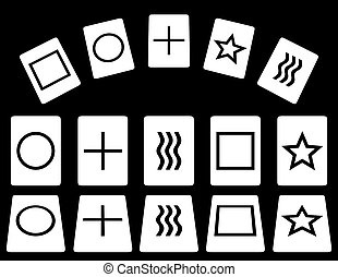 Zener cards for experimentation with psychic phenomena