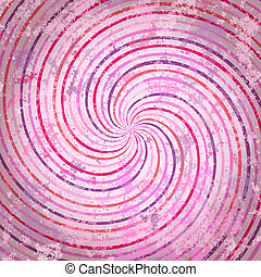 Pink swirls background in vintage style. Wood texture.