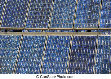 solar panels at an industrial plant