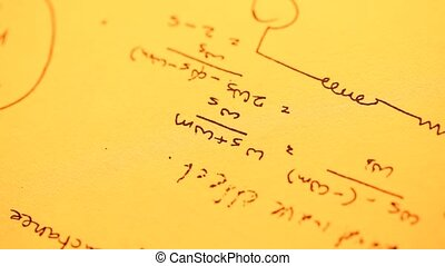 Mathematical?Background - Close up of a mathematical?content...