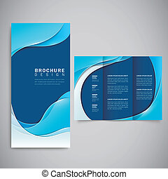 smooth curve lines background brochure template - abstract...