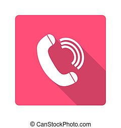 Flat design. handset icon