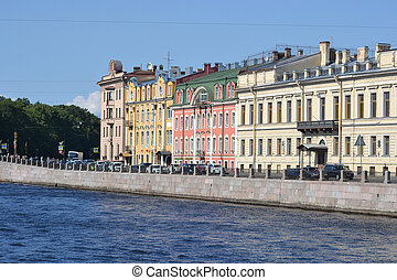 Embankment of Fontanka river, St Petersburg, Russia