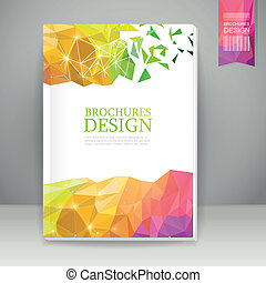 abstract colorful geometric background brochure template...