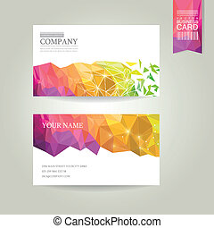 abstract geometric background business card - abstract...