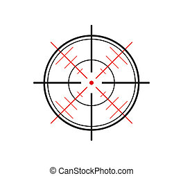 crosshair on white background - crosshair of the gun on...