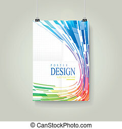 geometric streamlined style background poster - abstract...