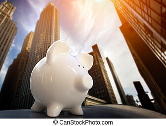 Piggybank in Financial District