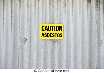 asbestos - Sign to warn for asbestos