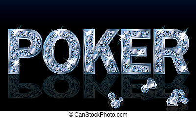 Brilliant poker background, vector illustration