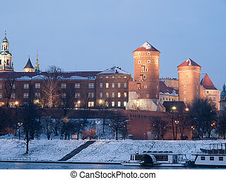 Krakow,Poland - The King Castle in Krakow