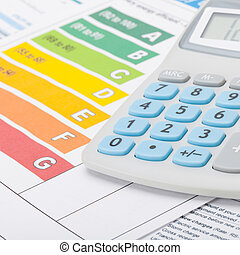 Energy efficiency chart and calculator - 1 to 1 ratio