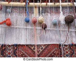 weaving loom in Iran