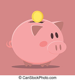 piggybank - minimalistic illustration of a piggybank, eps10...