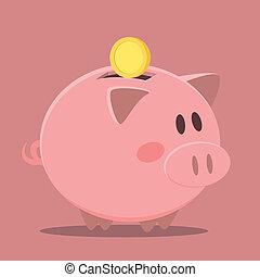piggybank - minimalistic illustration of a piggybank, eps10...