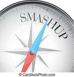 compass smashup - detailed illustration of a compass with...