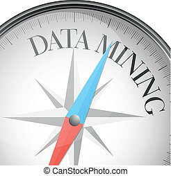 compass data mining - detailed illustration of a compass...