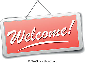 Welcome sign Vector Clipart Royalty Free. 43,988 Welcome sign clip ...