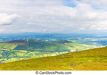 Patchy landscape of County Carlow