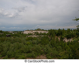 Krakow,Poland - The area of the old quarry -Liban the part...