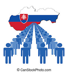 people with Slovakia map flag