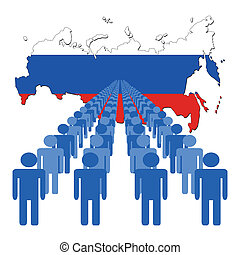 people with Russian Federation map