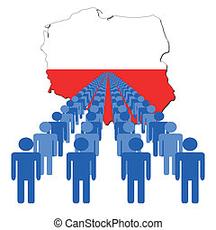 people with Poland map flag