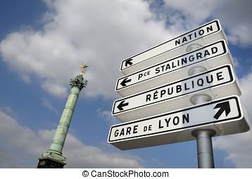 Place de la Bastille, Paris - Place de la Bastille in Paris,...