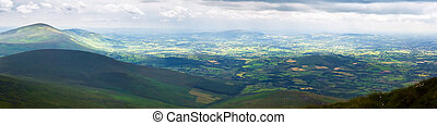 Panorama of Blackstairs Mountains and Carlow