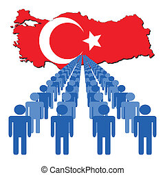 people with Turkey map flag