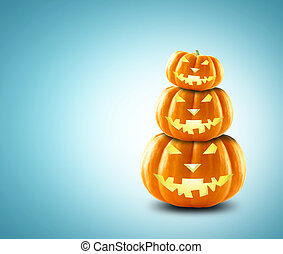 Halloween - Festive pumpkin for Halloween in the form of a...