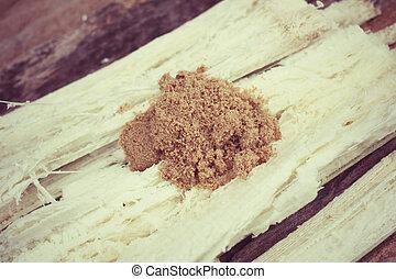 marrón, azúcar