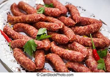 smoked sausage - Starter with smoked sausage containing...