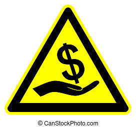Caution Bribery - Concept sign to fight against bribes and...