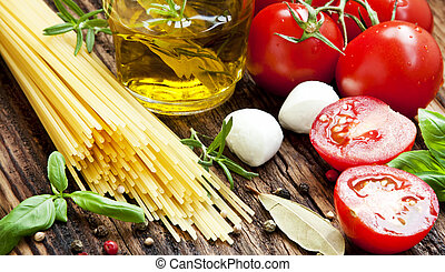 Italian Ingredients, Spaghetti,Olive Oil, Spices, Cherry...
