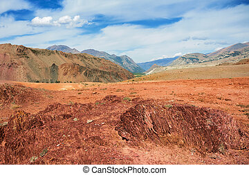 Red mountains, Altai Mountains, Russia