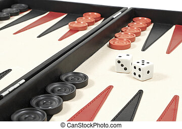 Backgammon - Closeup of a Backgammon game