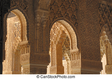 The Alhambra, in Granada Spain, is an UNESCO World Heritage...