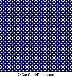 Navy Blue and White Small Polka Dots Pattern Repeat...