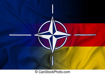 Waving Nato and Germany Flag