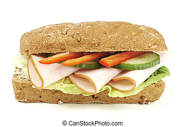 Healthy low fat chicken sandwich