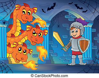Fairy tale indoor theme 1 - eps10 vector illustration.