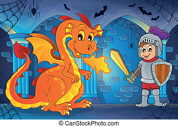 Haunted castle interior theme 5 - eps10 vector illustration