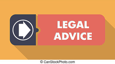 Legal Advice on Orange Background in Flat Design - Legal...