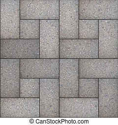 Decorative Gray Rectangular Paving Slabs. Seamless Tileable...