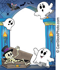 Wall alcove with Halloween theme 2 - eps10 vector...